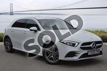 Mercedes-Benz A Class A250e AMG Line Executive 5dr Auto in digital white metallic at Mercedes-Benz of Hull