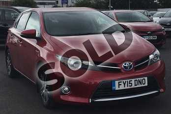 Toyota Auris 1.8 VVTi Hybrid Icon+ 5dr CVT Auto in Vermilion Red at Listers Toyota Lincoln