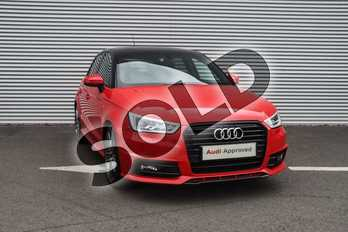 Audi A1 1.6 TDI Black Edition 5dr S Tronic in Misano Red Pearlescent at Coventry Audi
