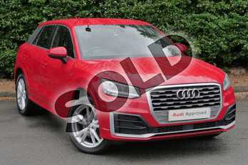 Audi Q2 1.4 TFSI S Line 5dr in Tango Red Metallic at Worcester Audi