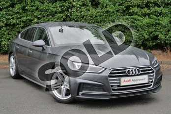 Audi A5 2.0 TDI Ultra S Line 5dr S Tronic in Daytona Grey Pearlescent at Worcester Audi