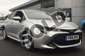 Toyota Corolla 1.8 VVT-i Hybrid Icon Tech 5dr CVT in Sterling Silver at Listers Toyota Lincoln