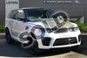 Range Rover Sport 5.0 P575 S/C SVR 5dr Auto in Indus Silver at Listers Land Rover Droitwich