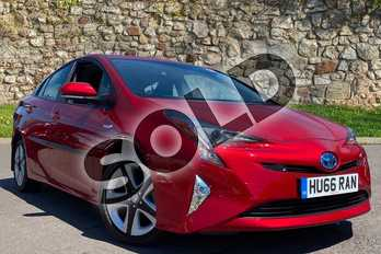 Toyota Prius 1.8 VVTi Business Edition Plus 5dr CVT in Hypersonic Red at Listers Toyota Cheltenham