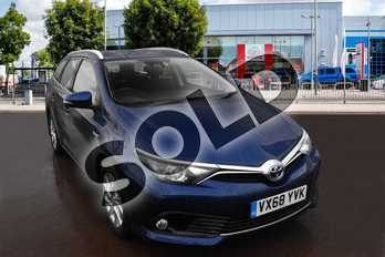 Toyota Auris 1.8 Hybrid Icon Tech TSS 5dr CVT in Orion Blue at Listers Toyota Cheltenham