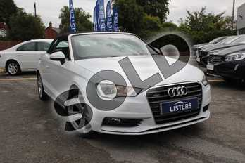 Audi A3 1.8 TFSI Quattro Sport 2dr S Tronic in White at Listers Volvo Worcester