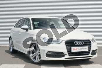 Audi A3 1.6 TDI S Line 5dr in Amalfi White at Coventry Audi