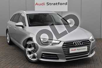 Audi A4 2.0 TDI Ultra Sport 5dr S Tronic in Floret Silver Metallic at Stratford Audi