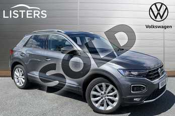 Volkswagen T-Roc 2.0 TSI SEL 4MOTION 5dr DSG in Indium Grey at Listers Volkswagen Stratford-upon-Avon