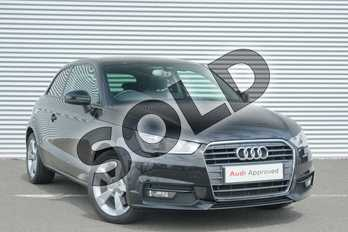 Audi A1 1.6 TDI Sport 3dr S Tronic in Mythos Black, metallic at Coventry Audi