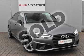 Audi A4 40 TDI Black Edition 4dr S Tronic in Monsoon Grey Metallic at Stratford Audi