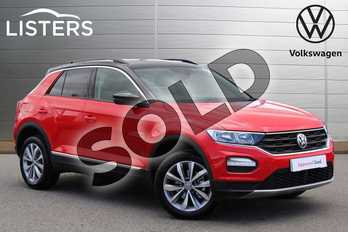 Volkswagen T-Roc 1.0 TSI Design 5dr in Flash Red Black Roof at Listers Volkswagen Nuneaton