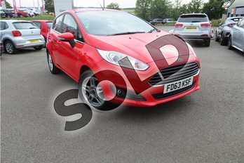 Ford Fiesta 1.0 EcoBoost Zetec 5dr in Solid - Race red at Listers Toyota Grantham