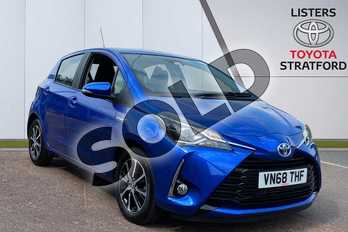 Toyota Yaris 1.5 Hybrid Icon Tech 5dr CVT in Blue at Listers Toyota Stratford-upon-Avon