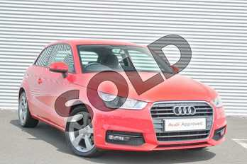Audi A1 1.4 TFSI Sport 3dr in Misano Red, pearl effect at Coventry Audi
