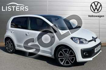 Volkswagen Up 1.0 R Line 5dr in Pure White/Black at Listers Volkswagen Stratford-upon-Avon