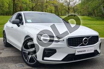 Volvo S60 2.0 T5 R DESIGN Plus 4dr Auto in Crystal White at Listers Volvo Worcester