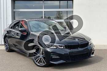 BMW 3 Series 330e M Sport 4dr Auto in Black Sapphire metallic paint at Listers King's Lynn (BMW)