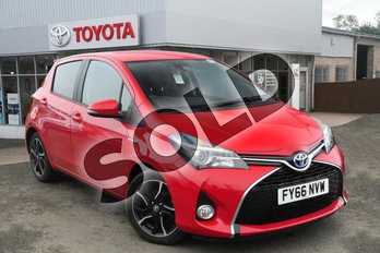 Toyota Yaris 1.5 Hybrid Design TSS 5dr CVT in Chilli Red at Listers Toyota Grantham