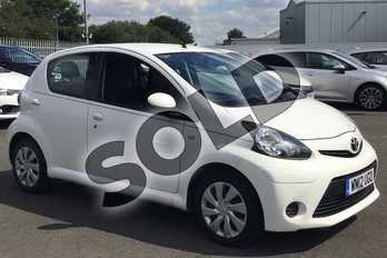 Toyota AYGO 1.0 VVT-i Ice 5dr in Cirrus White at Listers Toyota Lincoln