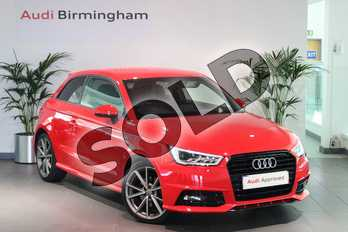 Audi A1 1.6 TDI Black Edition 3dr in Misano Red Pearlescent at Birmingham Audi