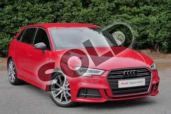 Audi A3 1.5 TFSI Black Edition 5dr S Tronic in Tango Red Metallic at Worcester Audi
