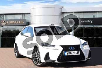Lexus IS 2.5 F Sport Leather / Premium Navigation in F Sport White at Lexus Coventry