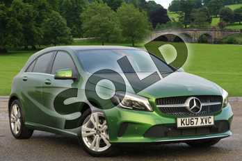 Mercedes-Benz A Class A200d Sport Premium Plus 5dr Auto in Elbaite green at Mercedes-Benz of Boston