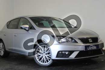 SEAT Leon 1.6 TDI SE Dynamic Technology 5dr in Metallic - Ice silver at Listers U Stratford-upon-Avon