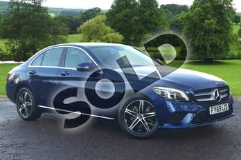 Mercedes-Benz C Class C200 Sport Premium 4dr 9G-Tronic in brilliant blue metallic at Mercedes-Benz of Grimsby