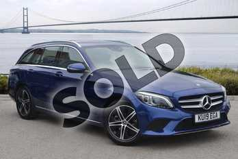 Mercedes-Benz C Class C200 Sport Premium 5dr 9G-Tronic in brilliant blue metallic at Mercedes-Benz of Hull