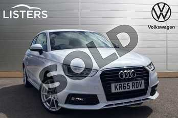 Audi A1 1.6 TDI S Line 3dr S Tronic in Glacier White at Listers Volkswagen Loughborough