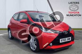 Toyota AYGO 1.0 VVT-i X-Pression 5dr in Red at Listers Toyota Nuneaton