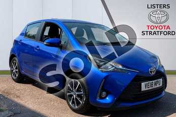 Toyota Yaris 1.5 VVT-i Icon Tech 5dr in Blue at Listers Toyota Stratford-upon-Avon