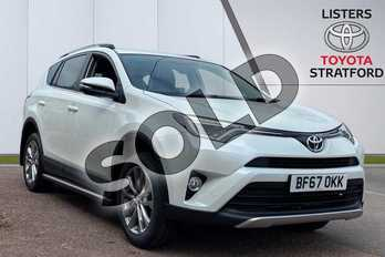 Toyota RAV4 2.0 V-Matic Excel 5dr CVT in White at Listers Toyota Stratford-upon-Avon