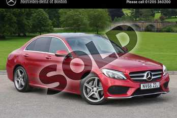 Mercedes-Benz C Class C250d AMG Line Premium 4dr Auto in designo Hyacinth Red Metallic at Mercedes-Benz of Grimsby