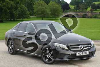 Mercedes-Benz C Class C200 Sport Premium Plus 4dr 9G-Tronic in obsidian black metallic at Mercedes-Benz of Boston