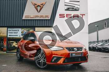 SEAT Ibiza 1.0 TSI 115 FR Sport (EZ) 5dr DSG in Orange at Listers SEAT Coventry