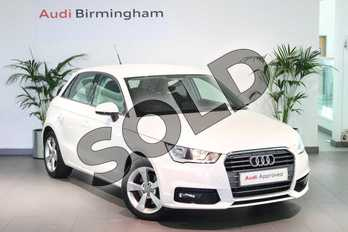 Audi A1 1.4 TFSI Sport 5dr S Tronic in Shell White at Birmingham Audi