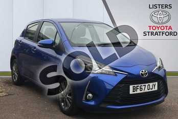 Toyota Yaris 1.5 VVT-i Icon 5dr CVT in Blue at Listers Toyota Stratford-upon-Avon