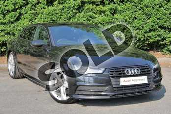 Audi A7 3.0 BiTDI Quattro 320 Black Edition 5dr Tip Auto in Myth Black Metallic at Worcester Audi