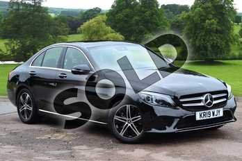 Mercedes-Benz C Class C220d Sport Premium Plus 4dr 9G-Tronic in obsidian black metallic at Mercedes-Benz of Grimsby