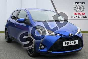 Toyota Yaris 1.5 VVT-i Design 5dr in Blue at Listers Toyota Nuneaton