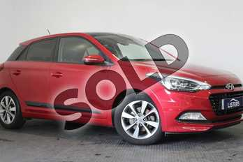 Hyundai i20 1.0T GDI (120) Premium SE Nav 5dr in Pearl - Red passion at Listers U Stratford-upon-Avon