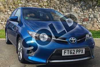 Toyota Auris 1.8 VVTi Hybrid Excel 5dr CVT Auto in Island Blue at Listers Toyota Boston
