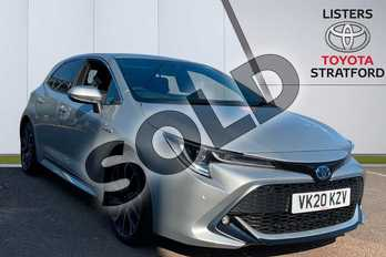 Toyota Corolla 2.0 VVT-i Hybrid Excel 5dr CVT in Silver at Listers Toyota Stratford-upon-Avon