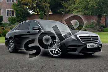 Mercedes-Benz S Class S350d L AMG Line Executive 4dr 9G-Tronic in Obsidian Black metallic at Mercedes-Benz of Lincoln