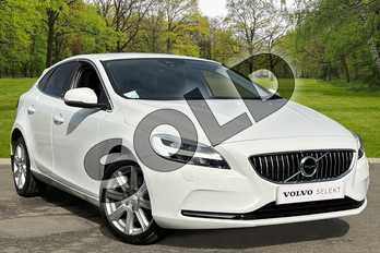 Volvo V40 D3 (4 Cyl 150) Inscription 5dr Geartronic in Ice White at Listers Volvo Worcester