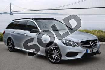 Mercedes-Benz E Class E220 BlueTEC AMG Night Ed Prem+ 5dr 7G-Tronic in Iridium Silver Metallic at Mercedes-Benz of Hull