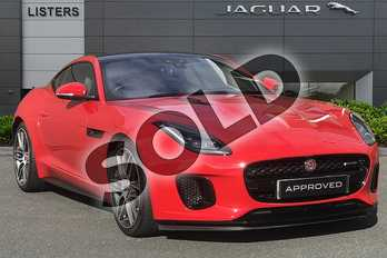 Jaguar F-Type 2.0 i4 Petrol (300PS) R-DYNAMIC in Caldera Red at Listers Jaguar Droitwich
